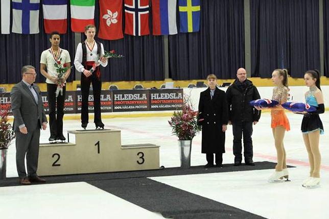 junior men podium
