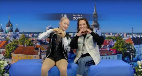 Aldís Kara og Darja í Kiss&Cry